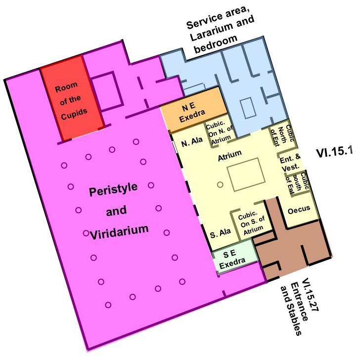 Pompeii - Casa dei Vettii map